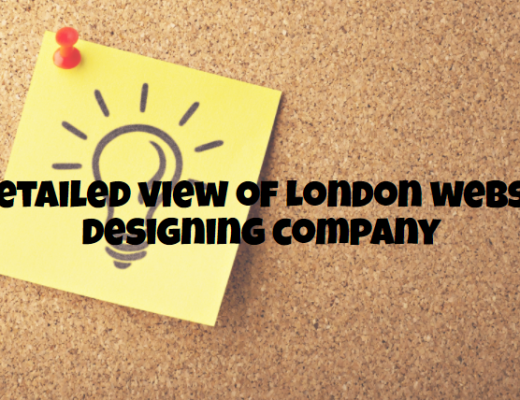 A detailed view of London website designing company